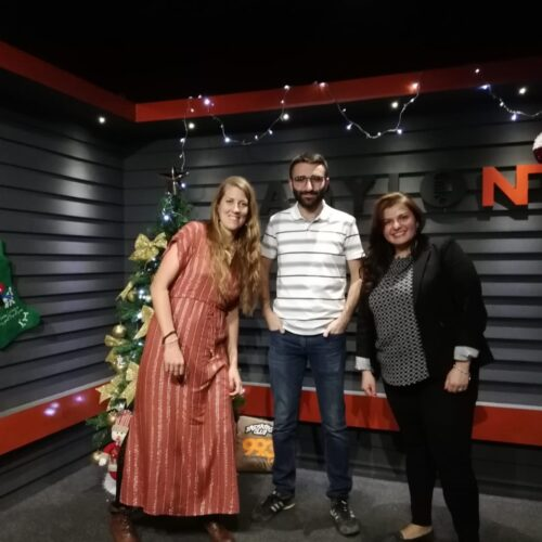 La French Touch – Dilan & Miriam with Alexandra from the French Embassy in Iraq